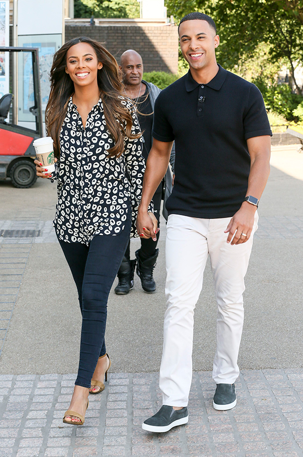 Celebrities at ITV studios, London, Britain - 31 Jul 2015 Rochelle Humes, Marvin Humes
