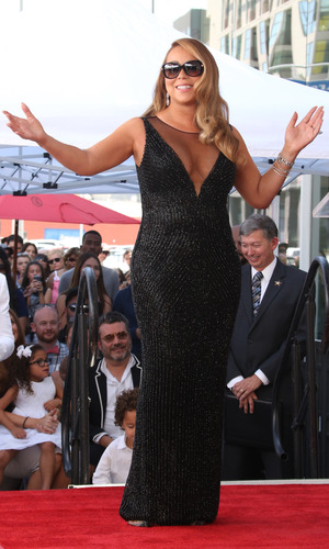 Mariah Carey honoured with a star on the Hollywood Walk of Fame - 5 August 2015.