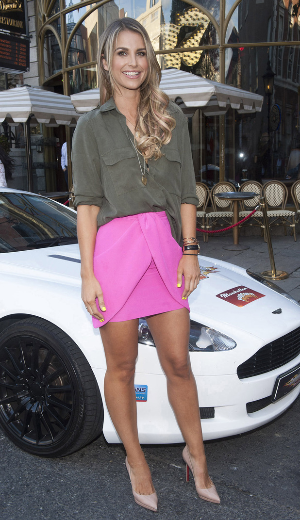 Vogue Williams looks stunning at the Cannonball 2015 launch party at 37 Dawson Street in aid of the Make-A-Wish Foundation, 8 August 2015