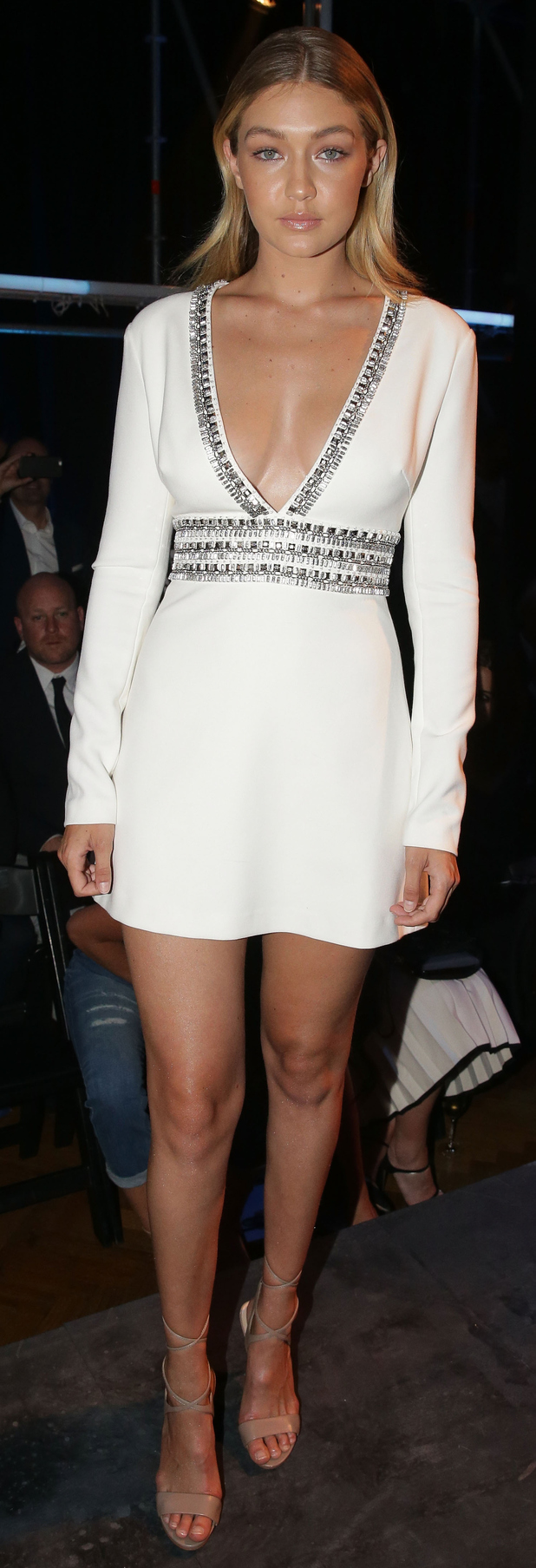 Gigi Hadid on the front row at the David Jones catwalk show in Sydney, 6th August 2015