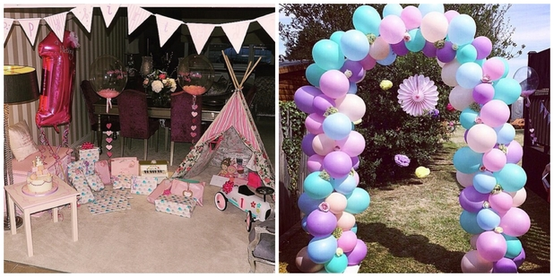 Billie Faiers shares snaps from Nelly's first birthday party, August 2015