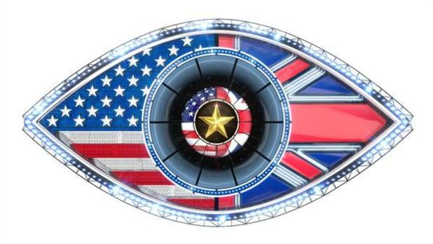Celebrity Big Brother: Emma Willis unveils new UK vs. USA themed eye - 7 August 2015.