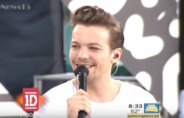 Louis Tomlinson confirms he's going to be a dad on Good Morning America, 4th August 2015