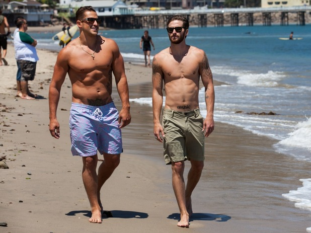 Made In Chelsea: LA cast member Bryan Mione and Cody Weselis. August 2015.