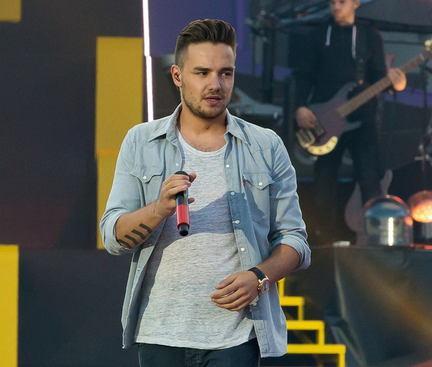 One Direction's Liam Payne performing live on stage at Ullevi in Gothenburg - 23 June 2015.