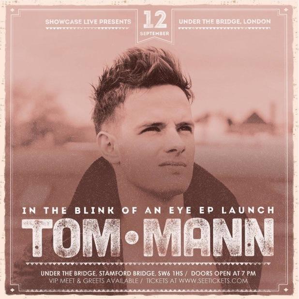 Stereo Kicks' Tom Mann announces debut solo gig in London - 7 August 2015.