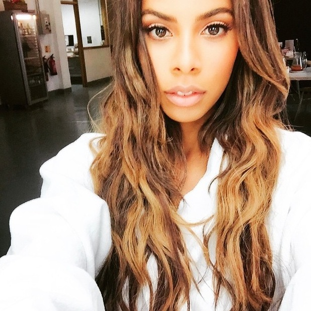 Rochelle Humes debuts much lighter hair on Instagram 3rd August 2015