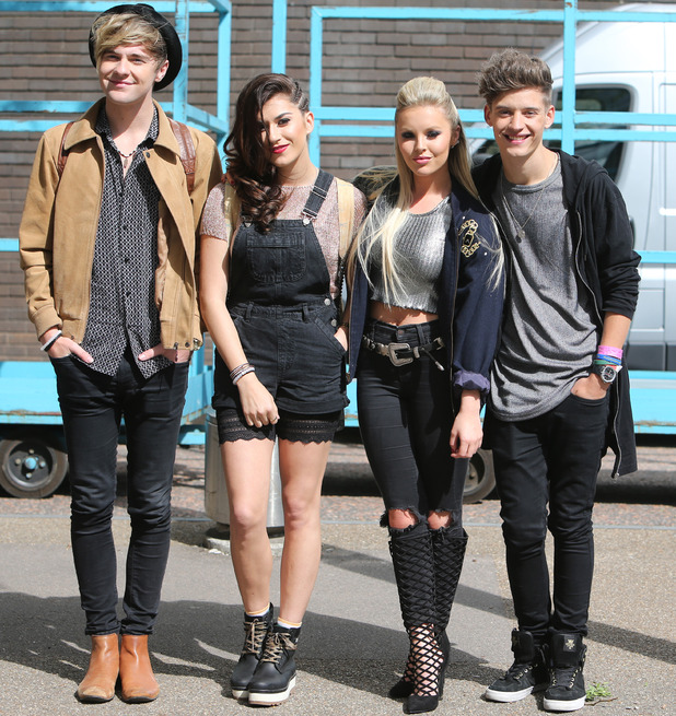 Only The Young - Parisa Tarjomani Charlie George Mikey Bromley Betsy-Blue English - outside the ITV studios. 29 July 2015.