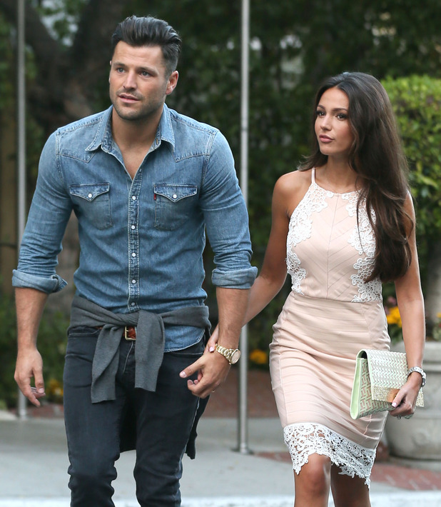 Mark Wright and Michelle Keegan at Craig's Restaurant in Beverly Hills - 3 August 2015.