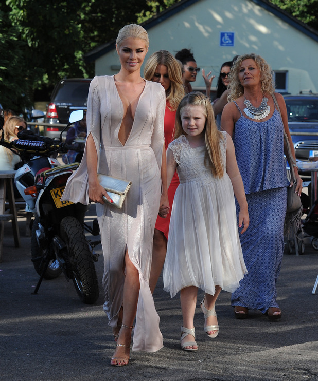 TOWIE's Chloe Sims and daughter Madison at The Boob Summer Ball - 2 August 2015.