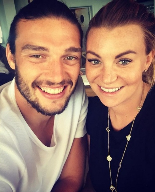 Andy Carroll and Billi Mucklow selfie 3 August