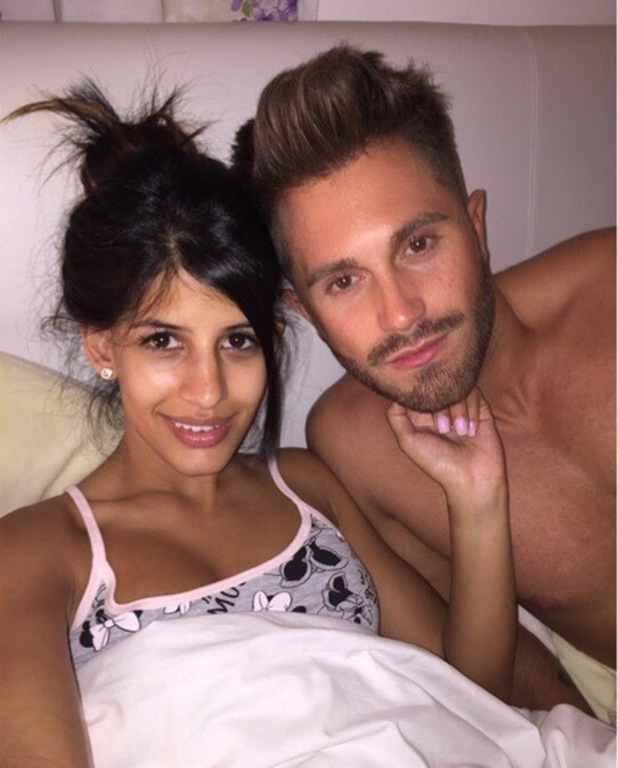 Jasmin Walia and Ross Worswick bed selfie 2 August