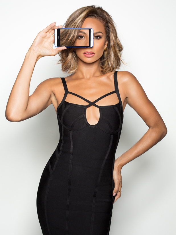 Alesha Dixon appears in Smashbox X HTC UK selfie campaign 6th August 2015
