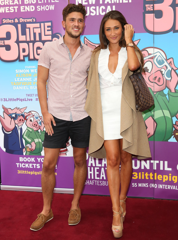 Jordan Davies and Megan McKenna at The 3 Little Pigs West End premiere 6 August