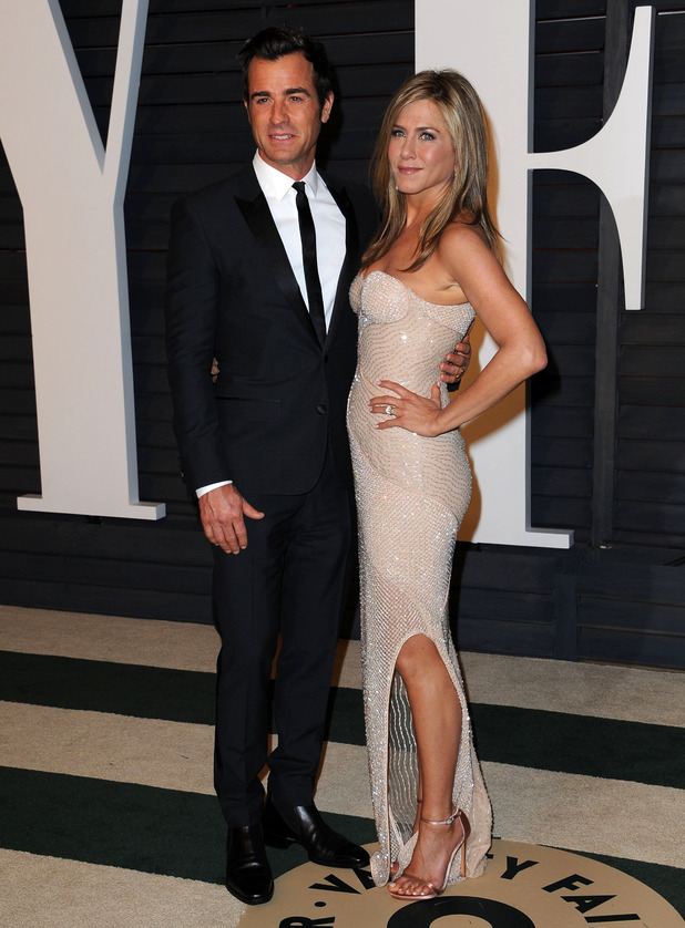 Justin Theroux, Jennifer Aniston - 2015 Vanity Fair Oscar Party Hosted By Graydon Carter - February 2015.