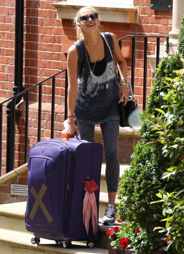 Stephanie Pratt moves into new home, London 5 August