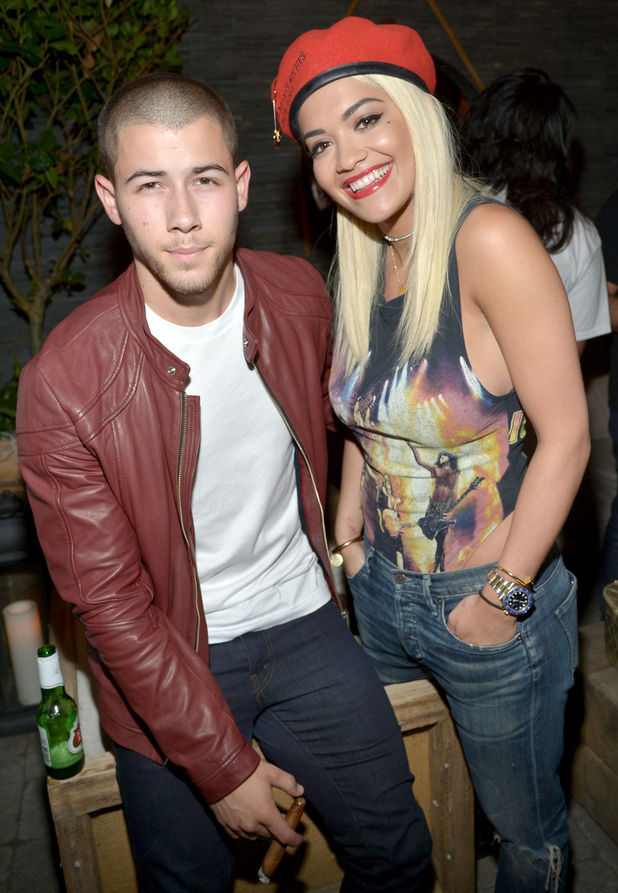 Rita Ora and Nick Jonas at Island Records' The After Party, 6th August 2015