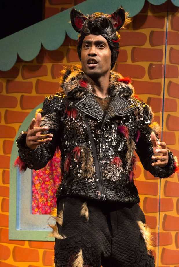 Simon Webbe as Wolf in 'The 3 Little Pigs' play, Palace Theatre, London, Britain - 05 Aug 2015.