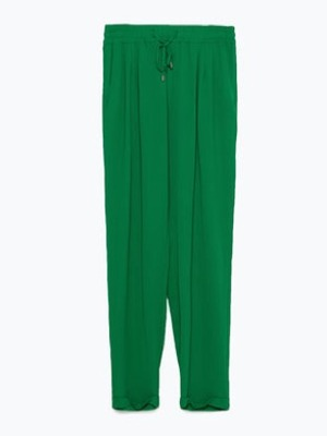 Get The Look: Leigh Anne Pinnock's green trousers from Zara