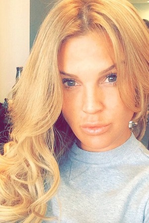 Danielle Lloyd shows off her new blonde hair thanks to Gold Fever Extensions, applied by Ceira Lambert, 12 August 2015