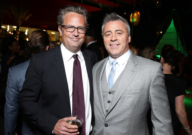 Matthew Perry and Matt LeBlanc at the 'Stars Party' in Los Angeles, America - 10 Aug 2015.