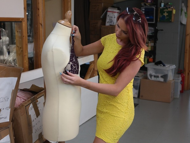 Amy Childs prepares for London Fashion Week with a whole new line, 10th August 2015