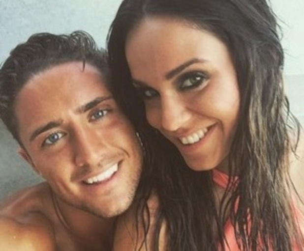 Vicky Pattison and boyfriend Stephen Bear in Ibiza 13 August