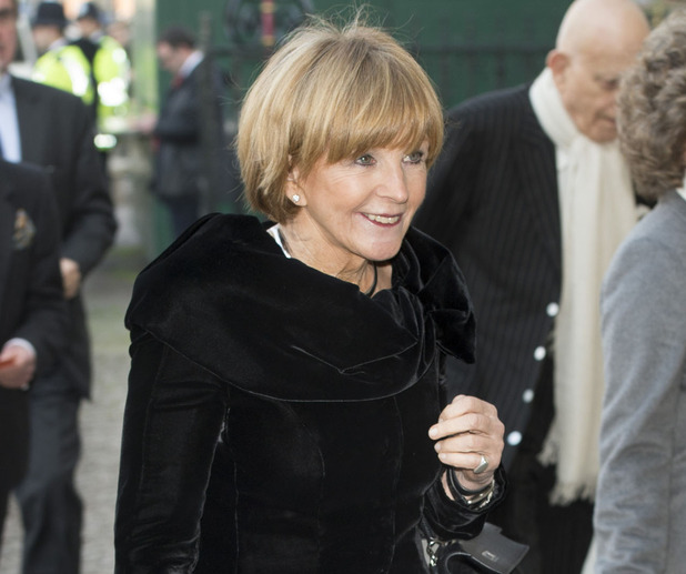 Anne Robinson attends a memorial service for Sir David Frost at Westminster Abbey on March 13, 2014 in London, England.