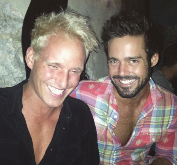 Made In Chelsea's Spencer Matthews and Jamie Laing enjoy catch-up - 12 August 2015.