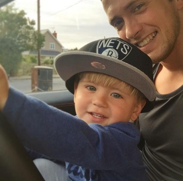 Dan Osborne and son Teddy 12 August