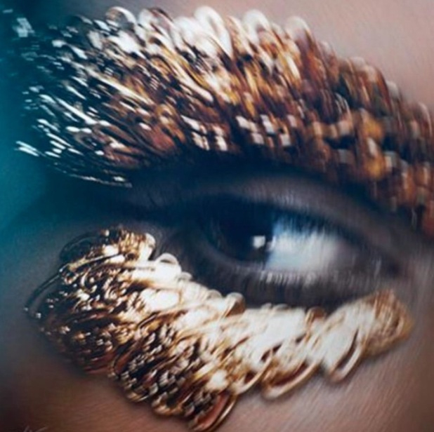 Kim Kardashian stars in Cleopatra inspired shoot for The Violet Files, gilded lashes image 13th August 2015