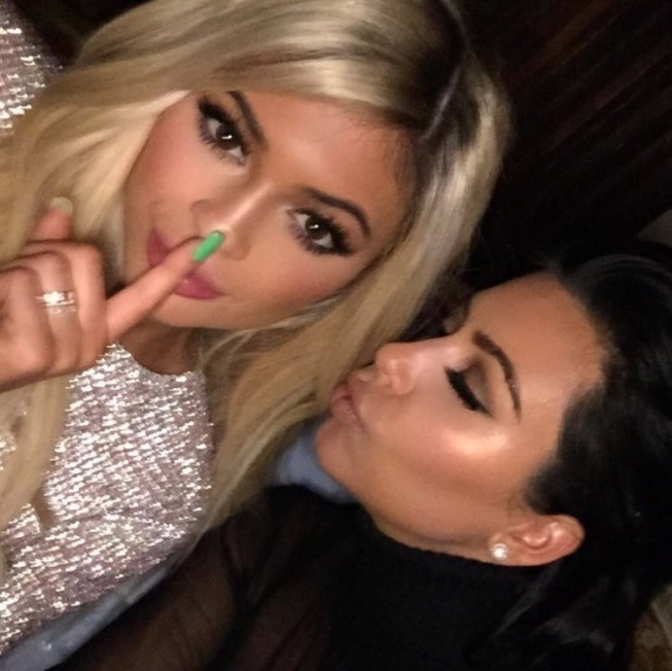 Kylie Jenner and Kim Kardashian pose for birthday selfie, 10th August 2015