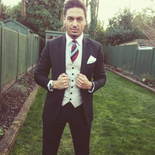 Mario Falcone looks seriously dapper!