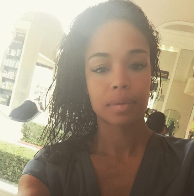 Sarah-Jane Crawford shows off her Perfect Eyelashes in LA, 8 August 2015
