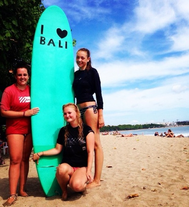 Surfing in Bali, Kuta, 12/8/15