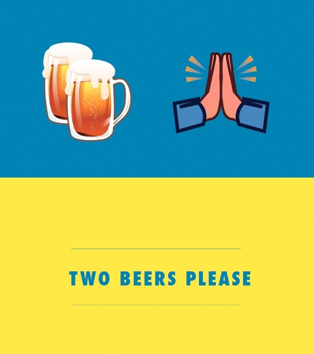 'Two beers please'. Emoji flashcards to help brits abroad break down the language barrier, August 2015
