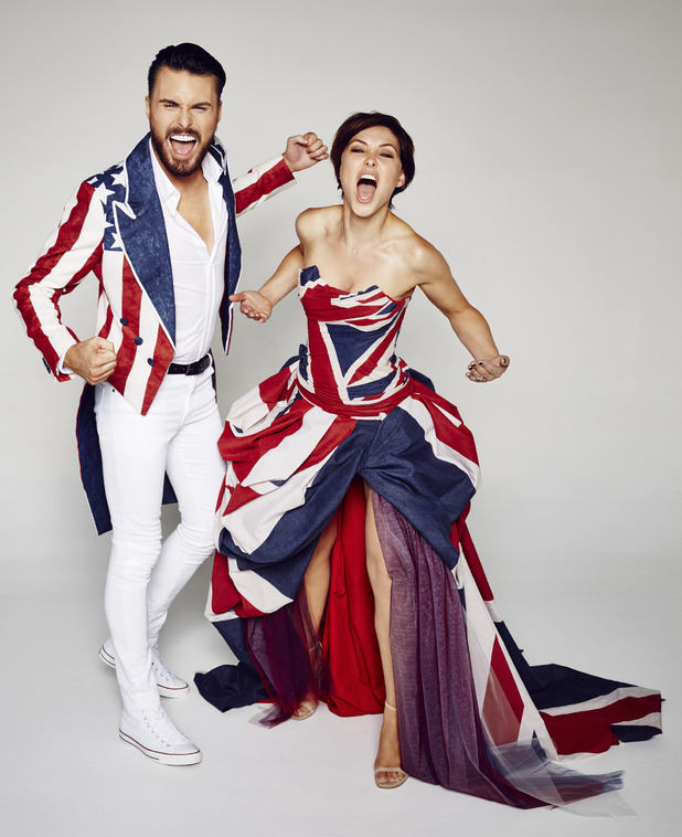 Celebrity Big Brother series 15 - promo photos of Emma Willis and Rylan Clark. August 2015.