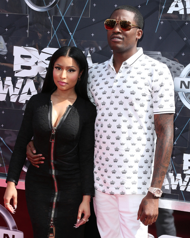 Nicki Minaj and Meek Mill attend the 2015 BET Awards, 28th June 2015