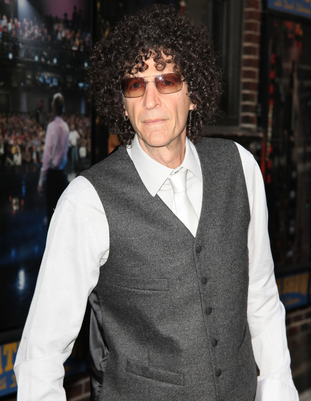 Howard Stern arriving at the 'Late Show with David Letterman' - 12 May 2015.