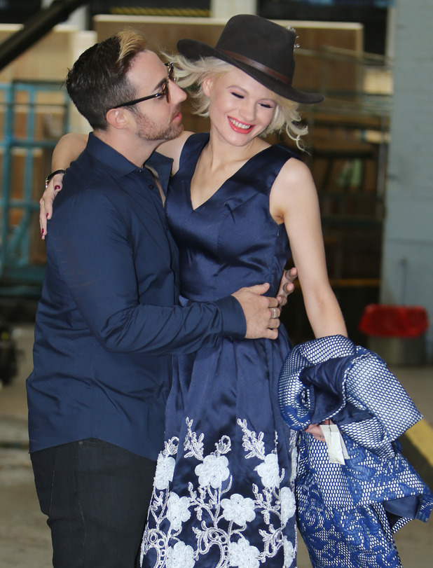 Chloe Jasmine and Stevi Ritchie outside ITV Studios - 14 August 2015.