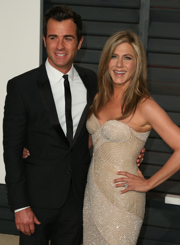 Justin Theroux and Jennifer Aniston at the 87th Annual Oscars - Vanity Fair Oscar Party - 22 February 2015.