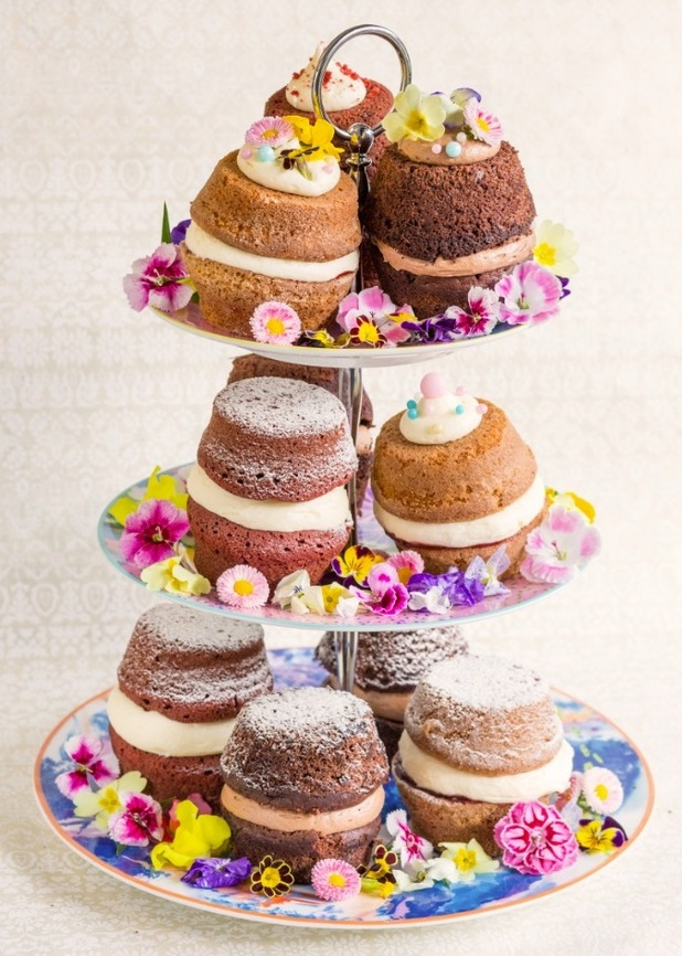 Molly Bakes afternoon tea mini cakes