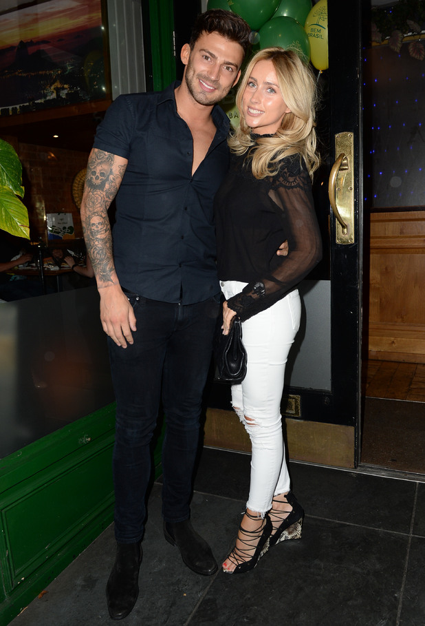 Jake Quickenden and Danielle Fogarty attend the launch night at Bem Brasil Altrincham restaurant, Manchester 13 August