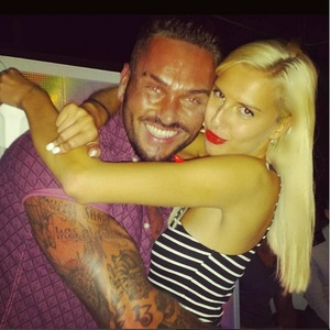Love Island's Zoe Basia Brown and Jordan Ring cuddle up in Instagram photo - 20 August 2015.