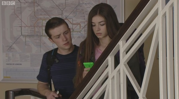 Mimi Keene and James Forde bow out of EastEnders as Cindy Williams and Liam Butcher. Aired: 17 August 2015.