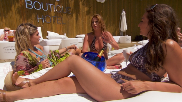 TOWIE's Ferne McCann gets the lowdown on Jordan Sargeant's love life as she makes cameo in Life On Marbs - 19 August 2015.