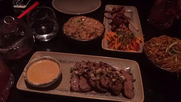 Brooke Vincent's pics from Tattu restaurant - for use on Brooke's blog. 18 August 2015.