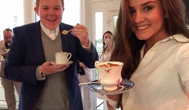 Brooke Vincent with co-star Colson Smith - for use on Brooke's blog. 18 August 2015.