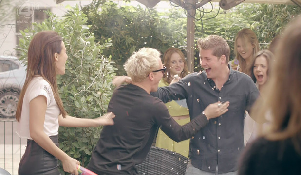 Stevie Johnson at his surprise birthday party on Made In Chelsea, shown on E4 hd -  May 2014.