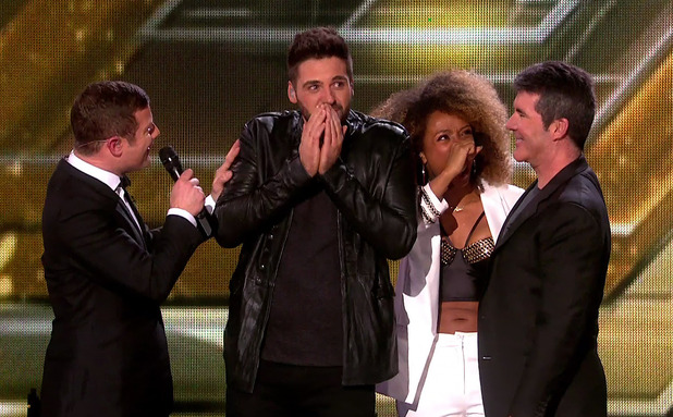 Ben Haenow after he was named the winner of the The X Factor 2014 on the final of 'The X Factor'. Shown on ITV1 HD.